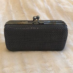 Black and pewter hard clutch